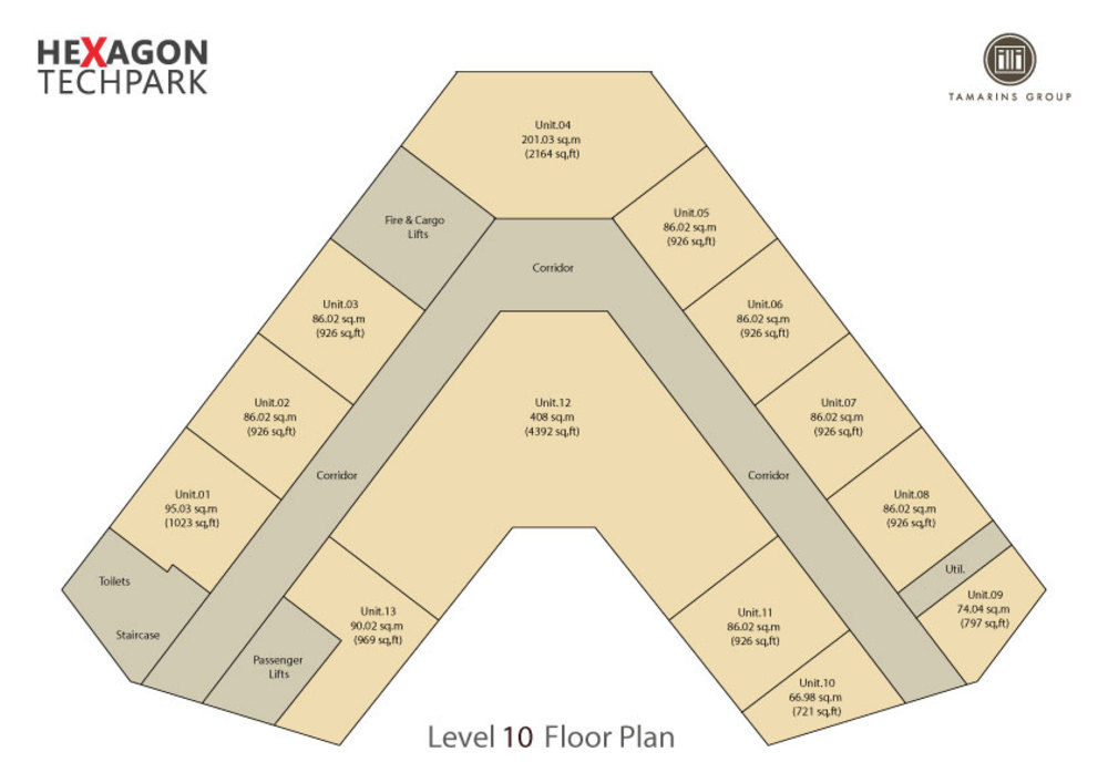 Hexagon Tech Park  Level 10 Floor Plan