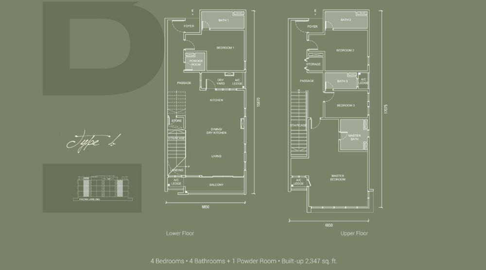 Laguna Residences Type B Floor Plan