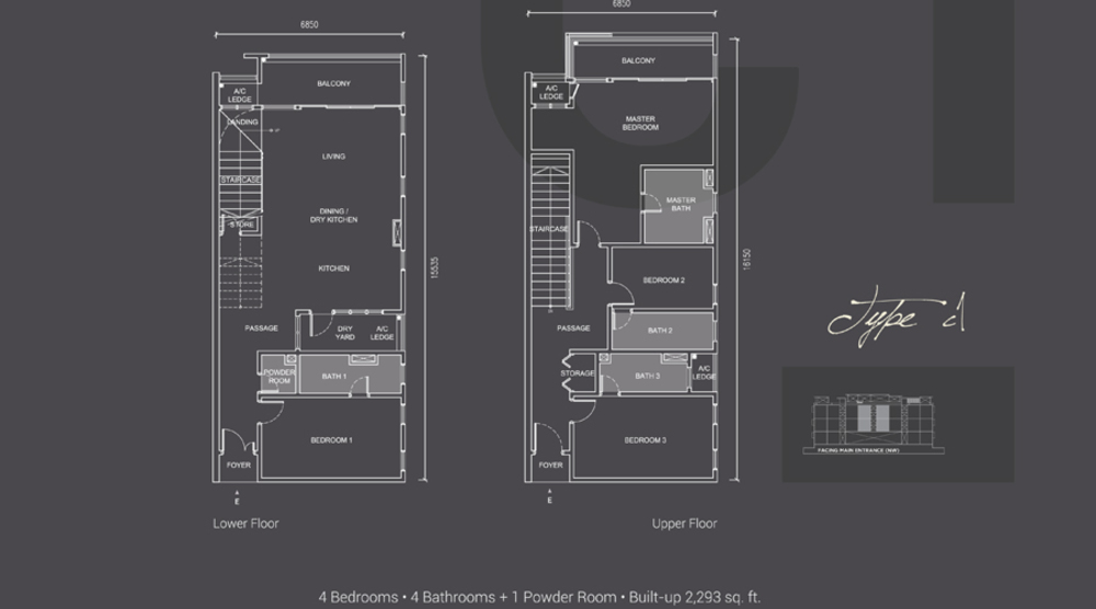 Laguna Residences Type C1 Floor Plan
