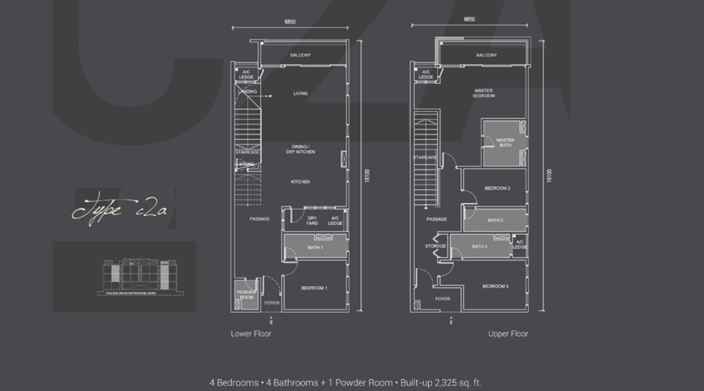 Laguna Residences Type C2a Floor Plan