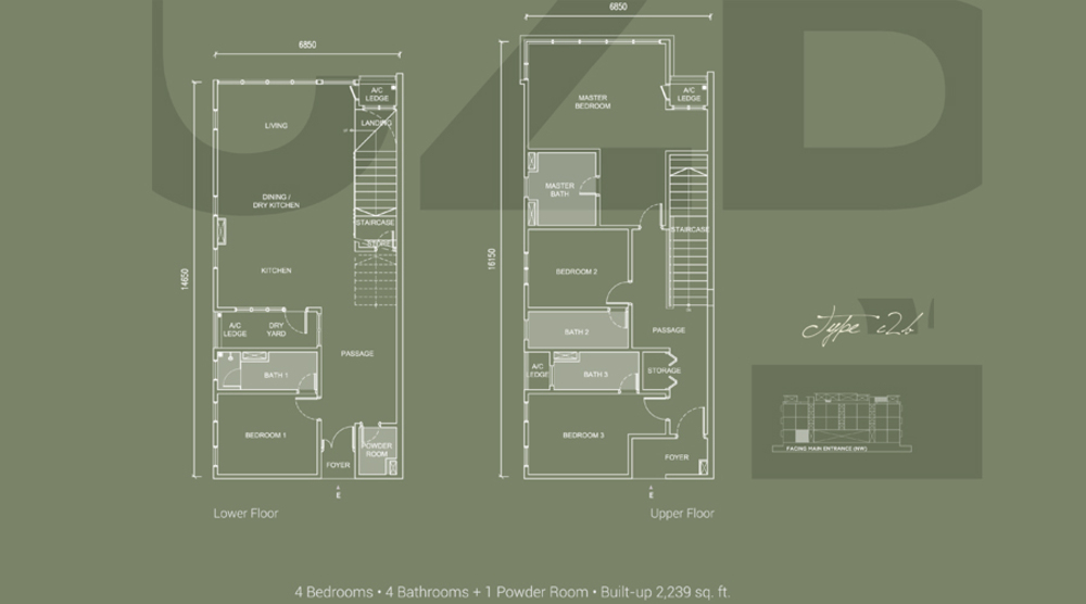 Laguna Residences Type C2b Floor Plan