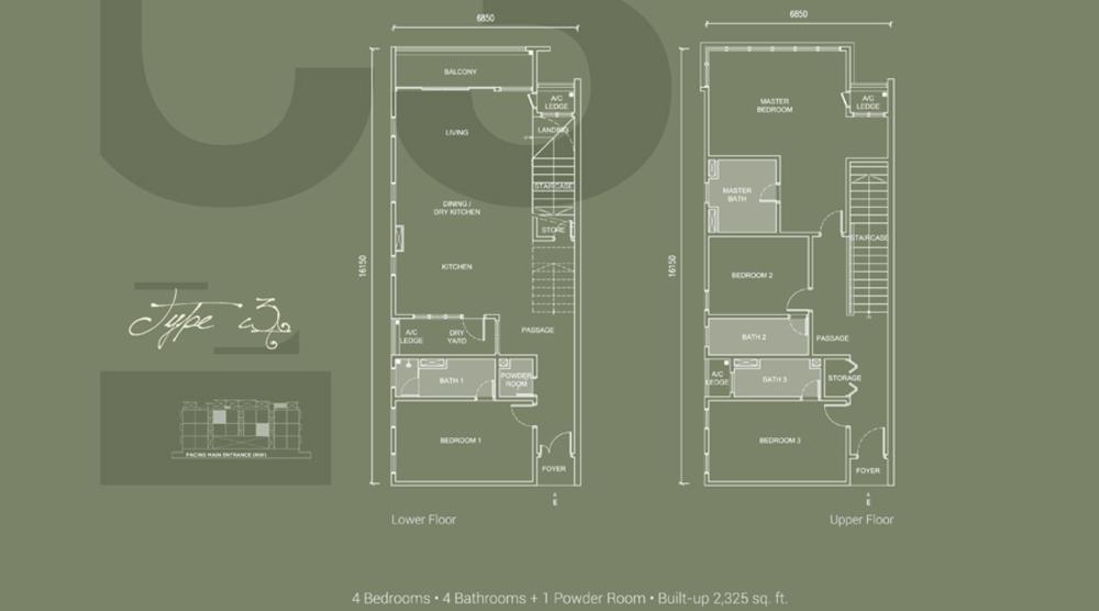 Laguna Residences Type C3 Floor Plan