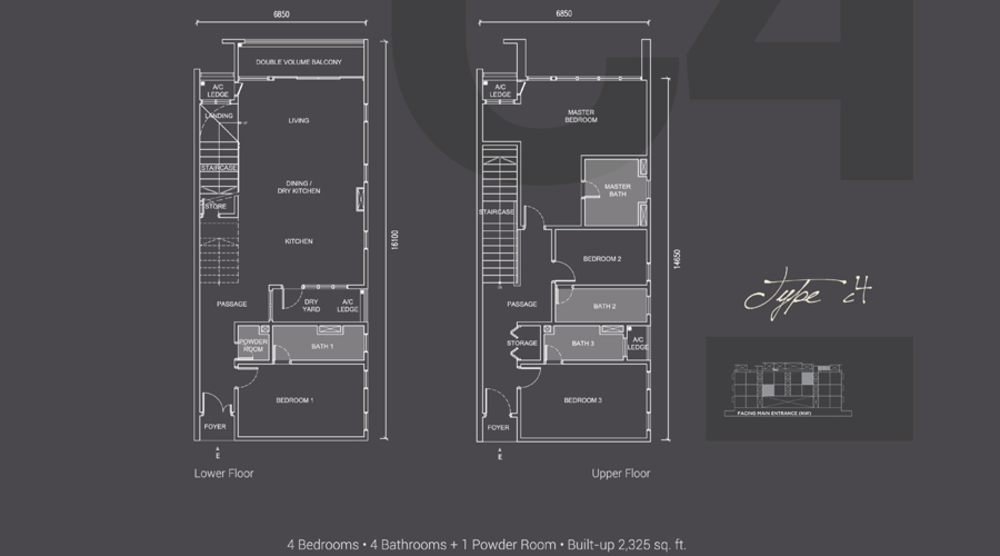 Laguna Residences Type C4 Floor Plan