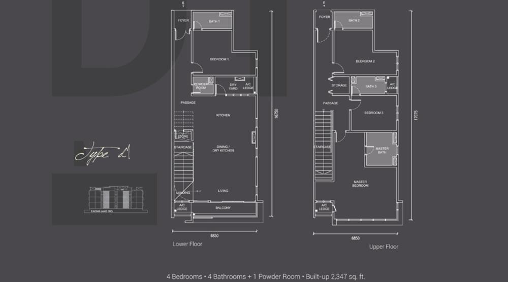 Laguna Residences Type D1 Floor Plan