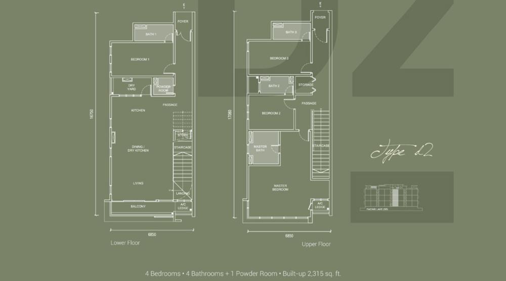 Laguna Residences Type D2 Floor Plan