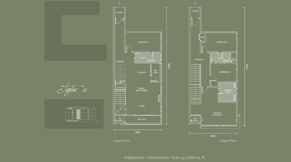 Laguna Residences Type E Floor Plan