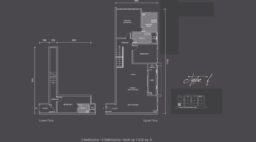 Laguna Residences Type F Floor Plan