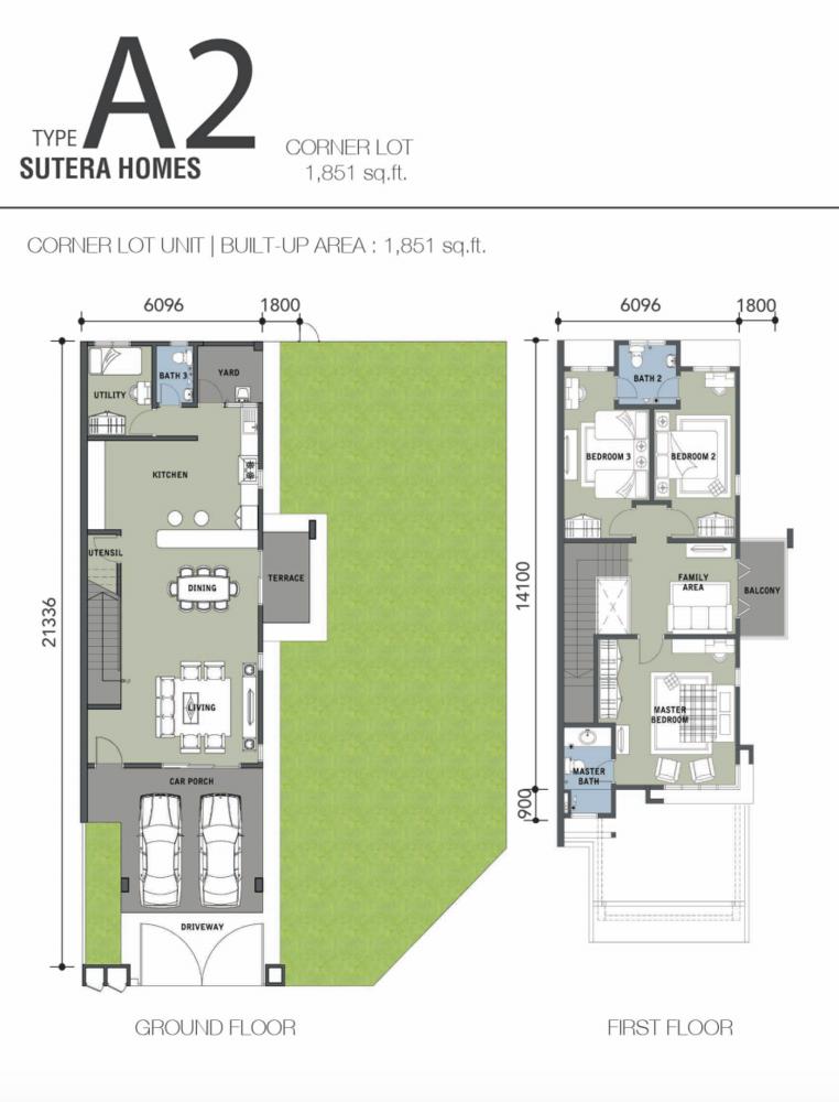 Bandar Warisan Puteri 2 Sutera Homes Type A2 Floor Plan