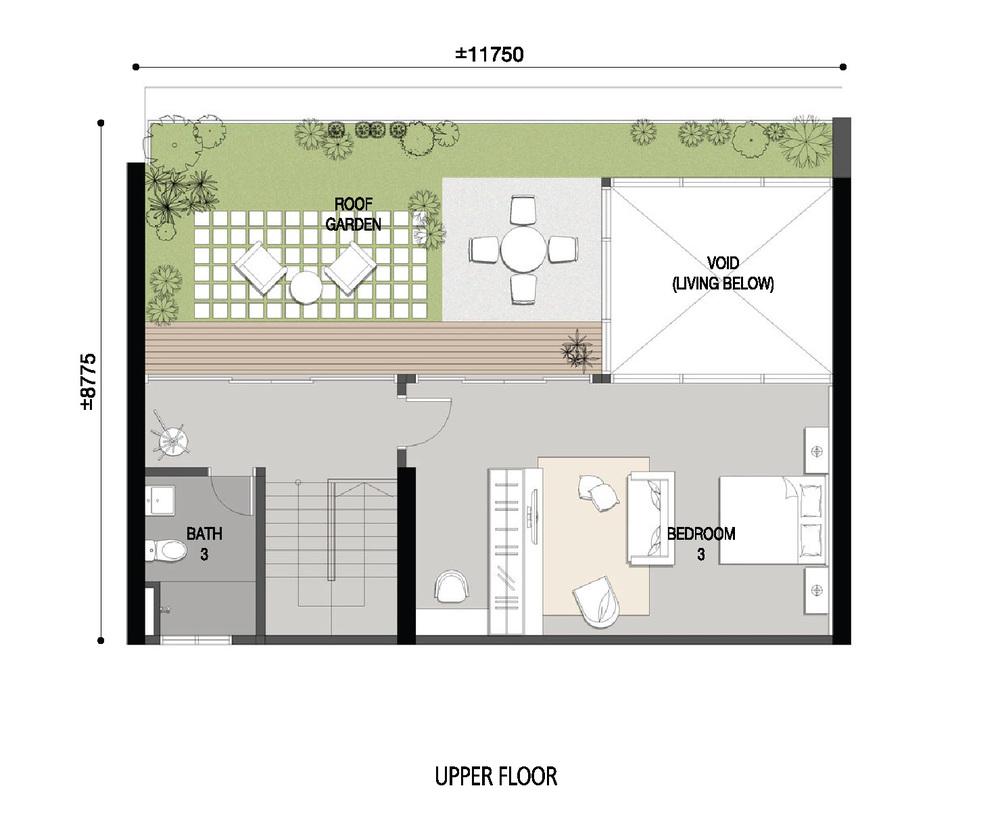 Skycube Residence Penthouse Upper Floor Floor Plan