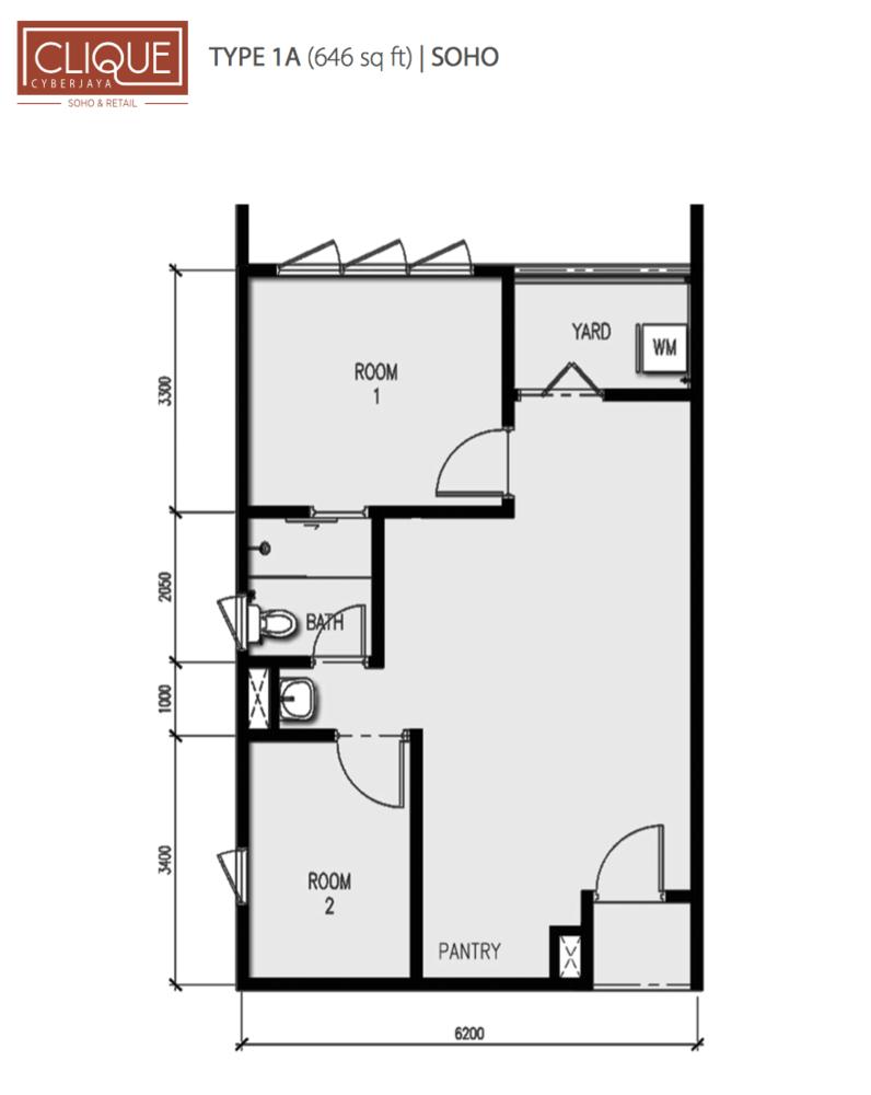 Clique Type 1A Floor Plan