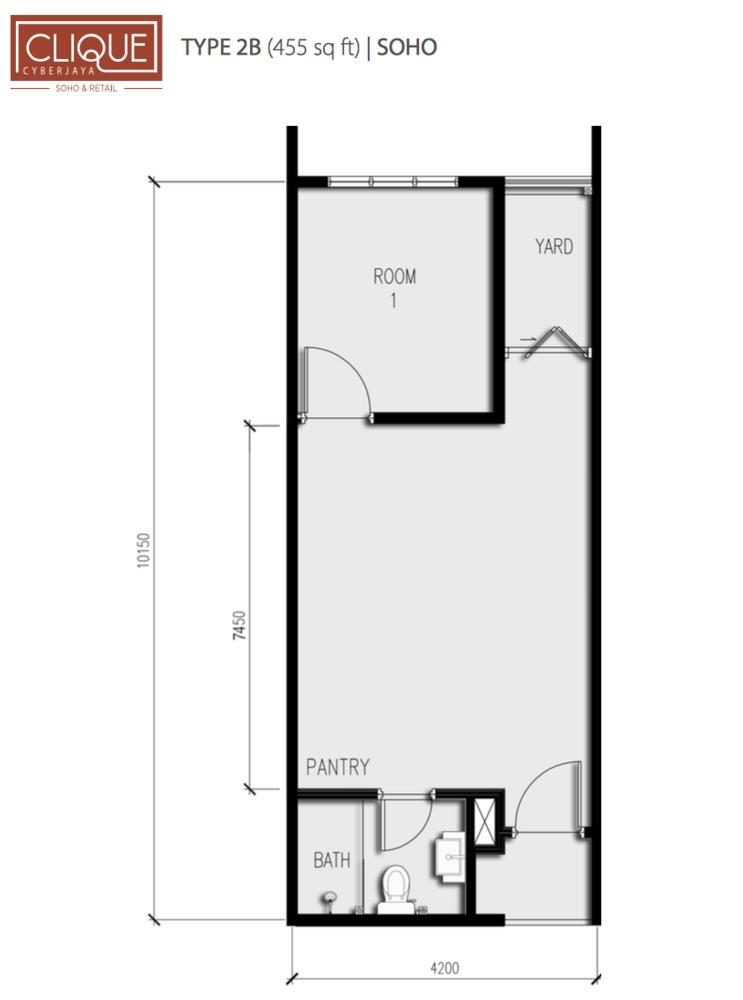 Clique Type 2B Floor Plan
