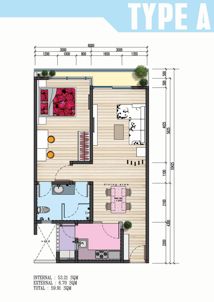 The Wave Residence Type A Floor Plan
