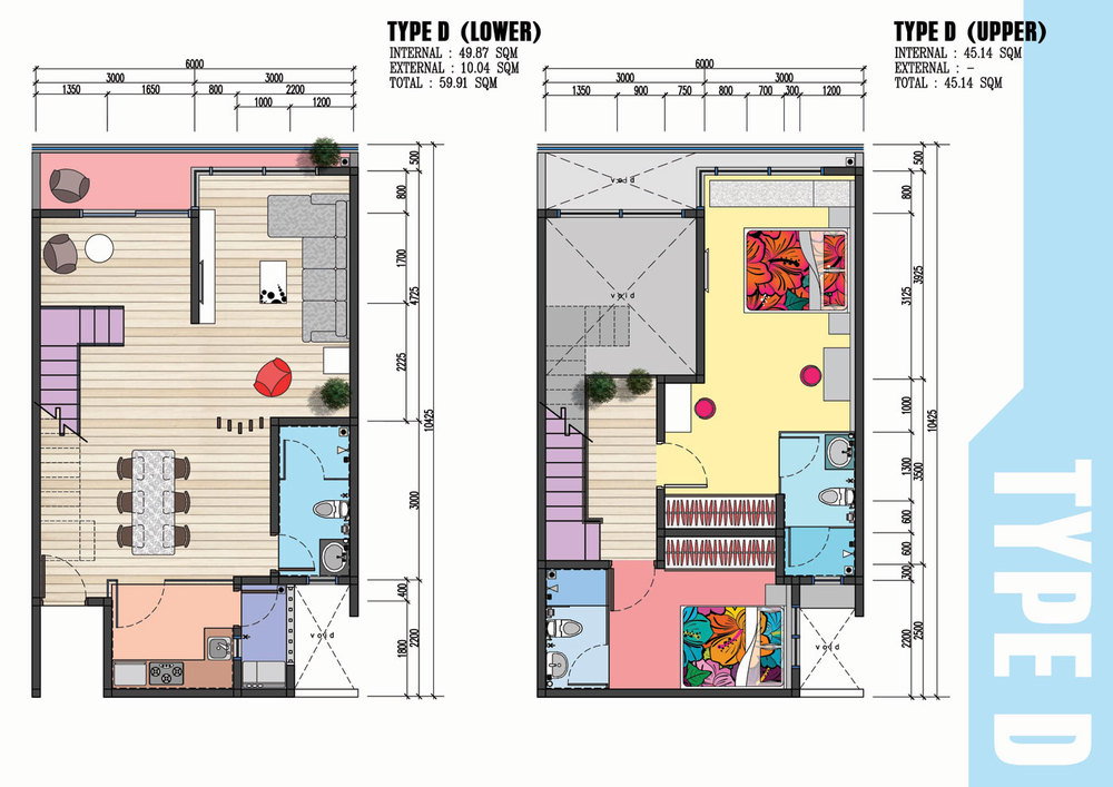 The Wave Residence Type D Floor Plan