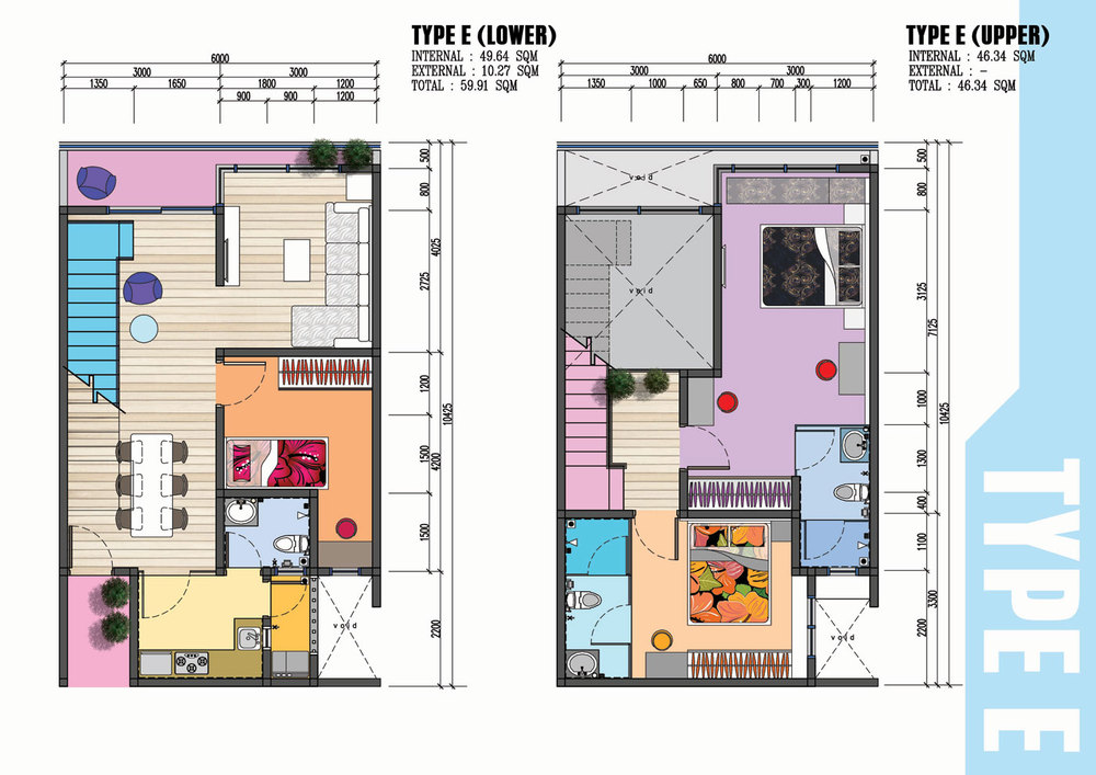 The Wave Residence Type E Floor Plan