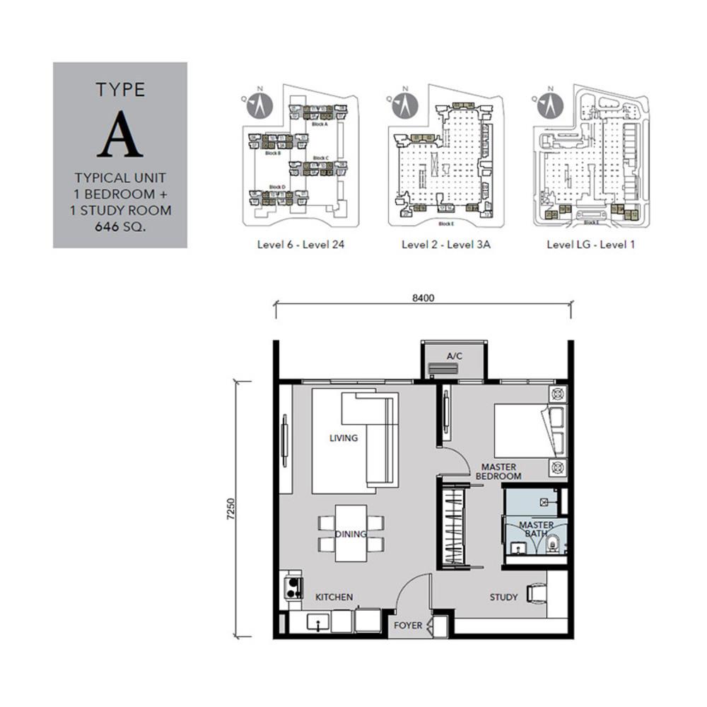 Cantara Residences Type A Floor Plan