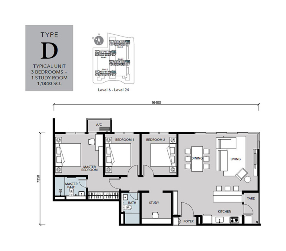 Cantara Residences Type D Floor Plan