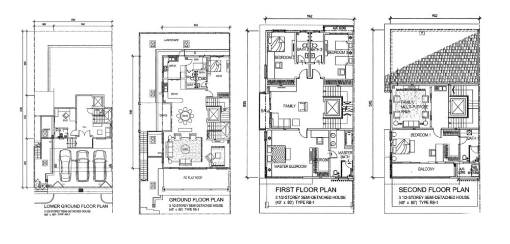 Indah Height Type RB-1 Floor Plan