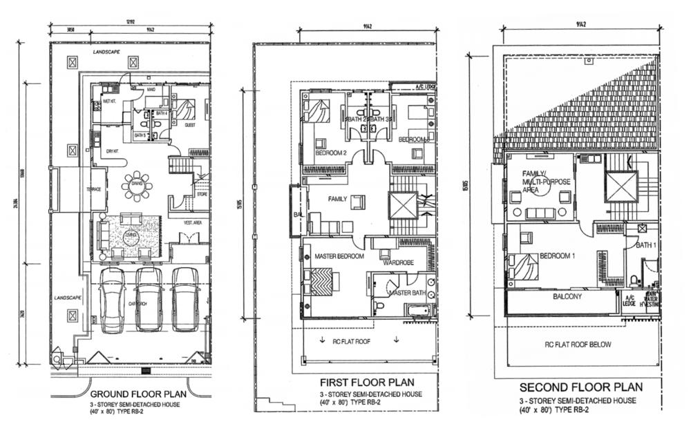 Indah Height Type RB-2 Floor Plan