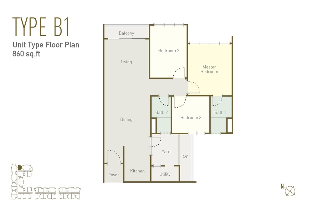 Lavile Type B1 Floor Plan