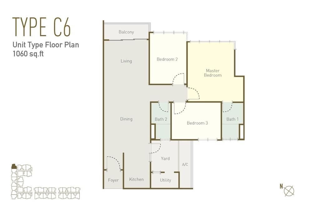 Lavile Type C6 Floor Plan