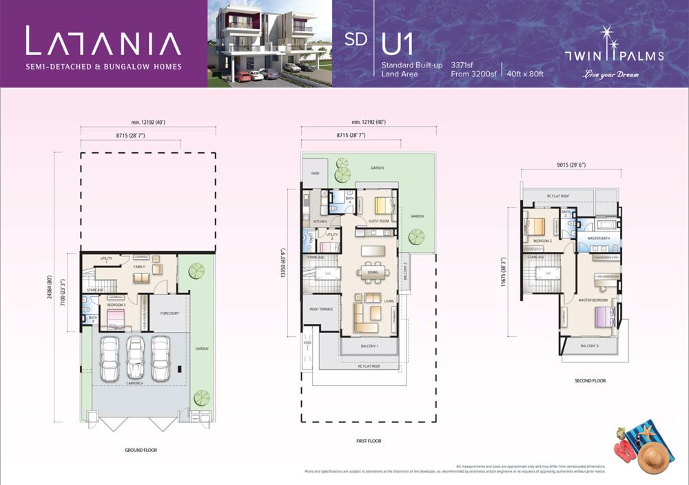 Latania Type SDU1 Floor Plan