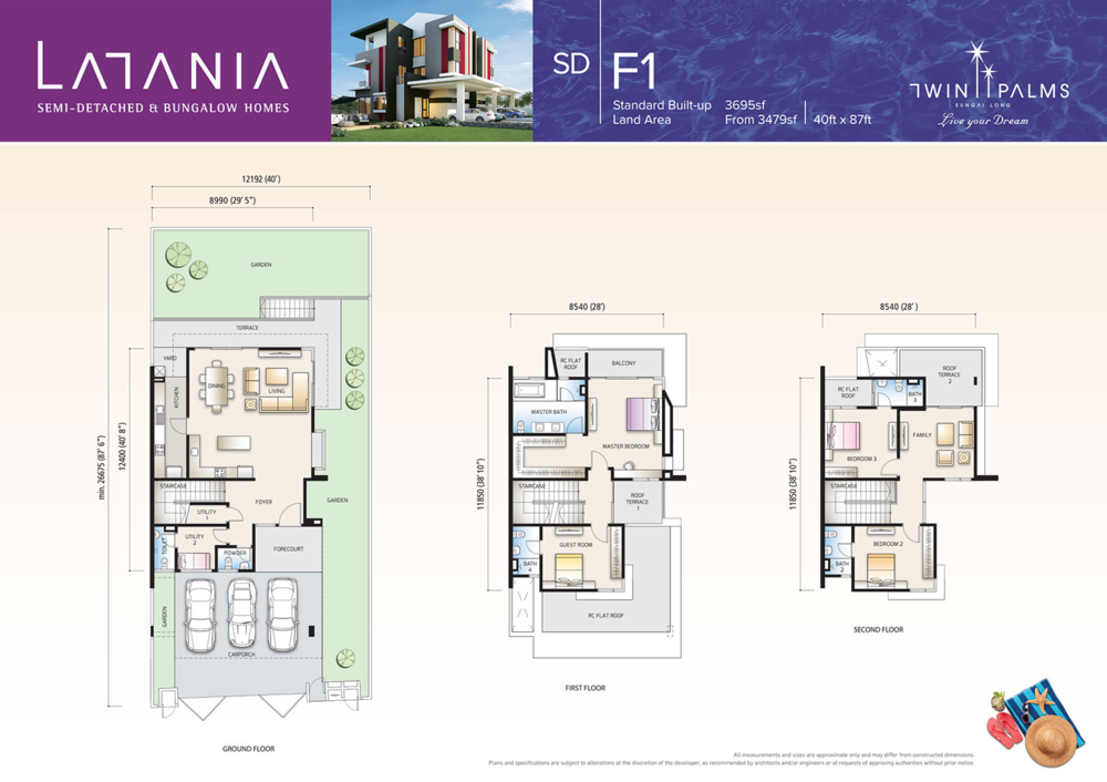 Latania Type SDF1 Floor Plan
