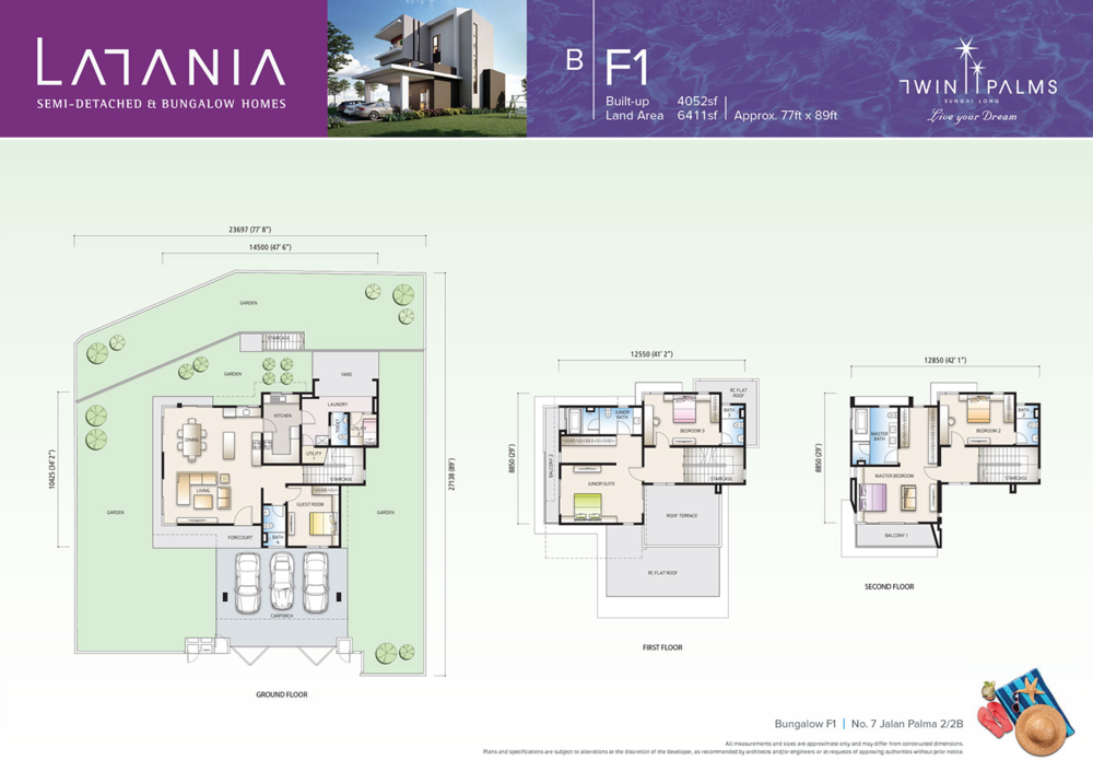 Latania Type BF1 Floor Plan