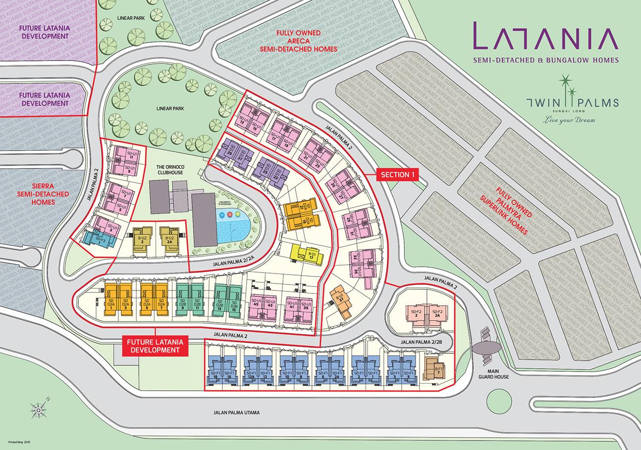 Site Plan of Latania