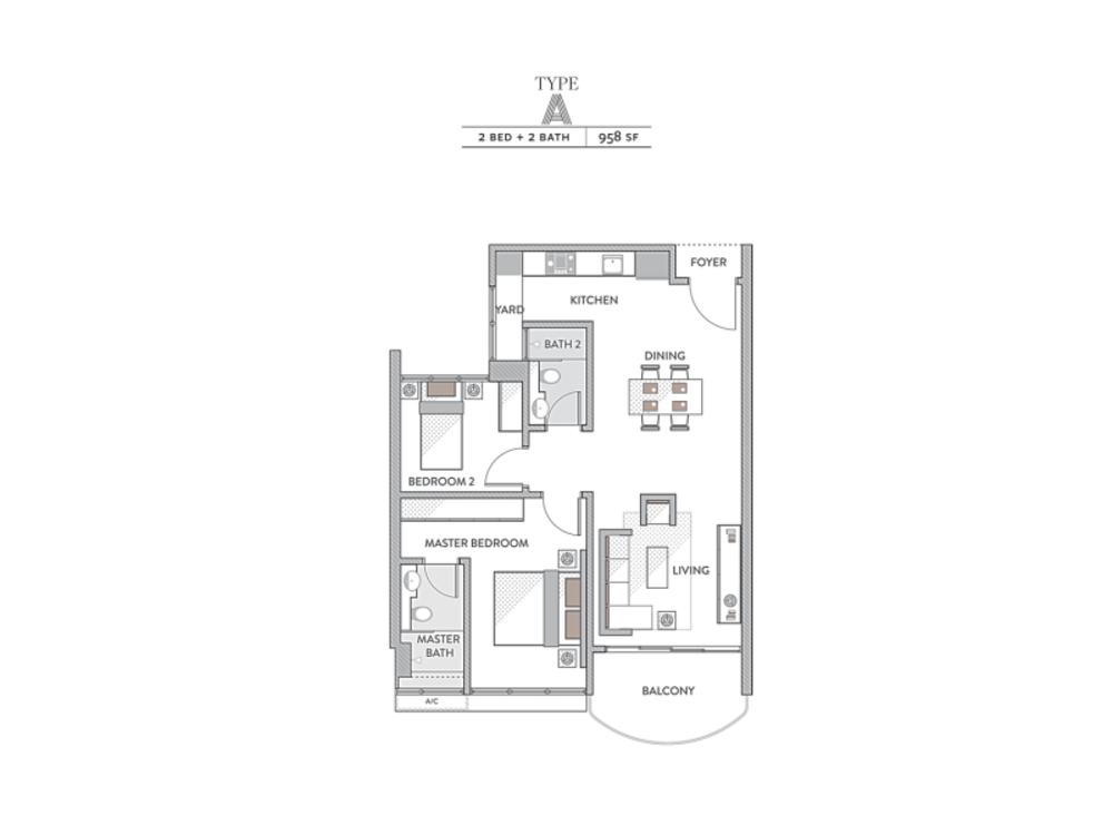 Senada Residences Type A Floor Plan