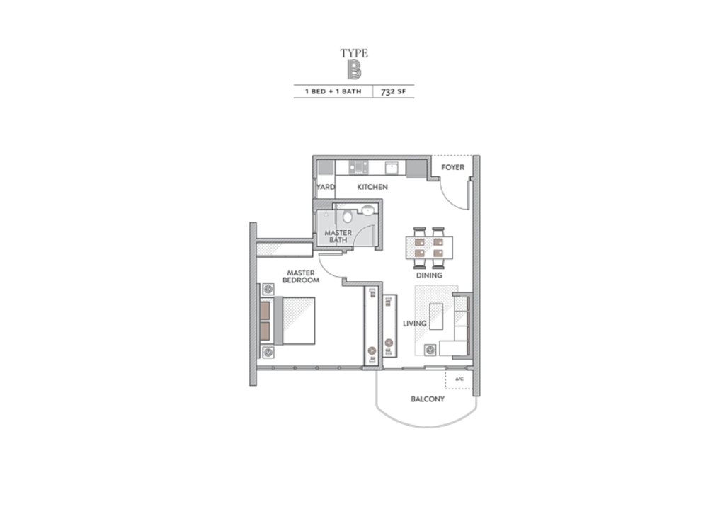 Senada Residences Type B Floor Plan