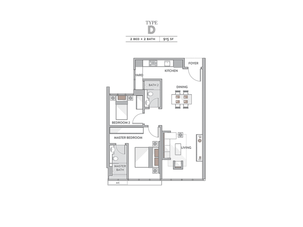 Senada Residences Type D Floor Plan