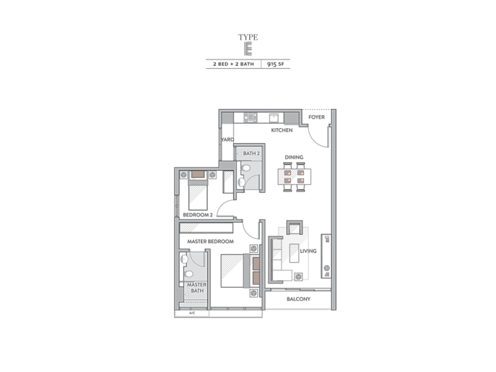 Senada Residences Type E Floor Plan
