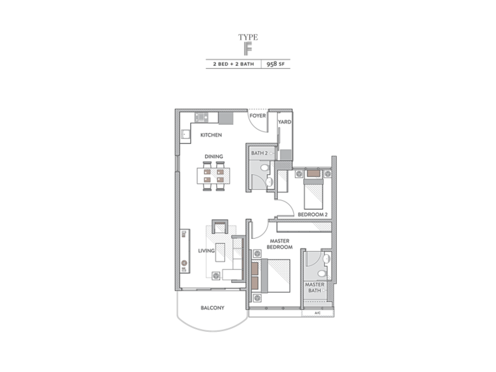 Senada Residences Type F Floor Plan