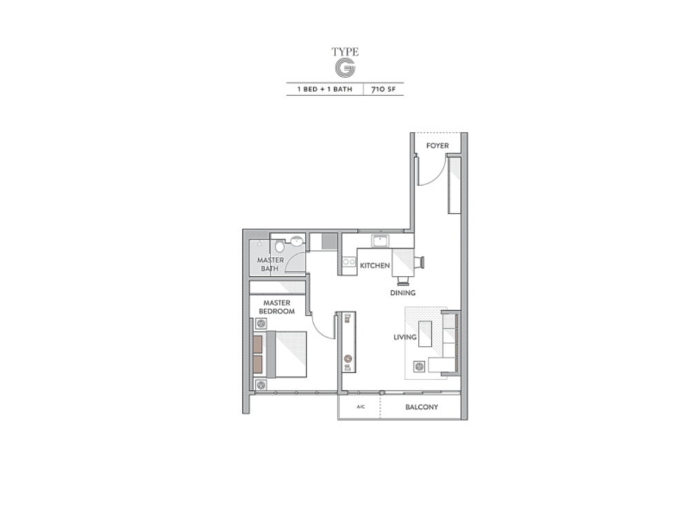 Senada Residences Type G Floor Plan