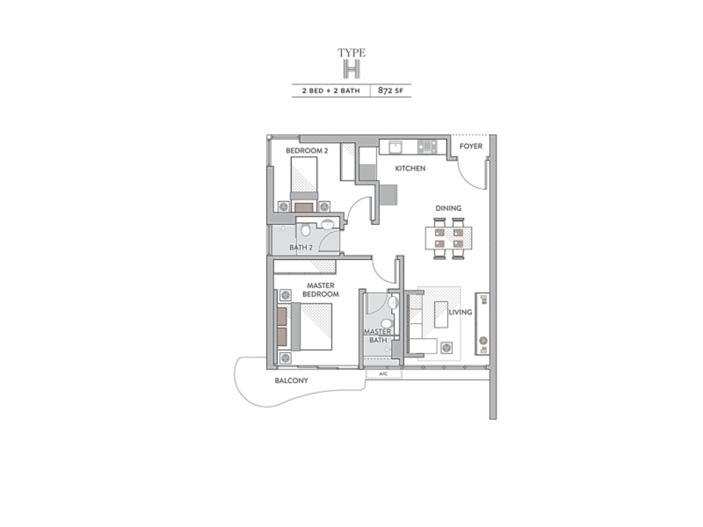 Senada Residences Type H Floor Plan