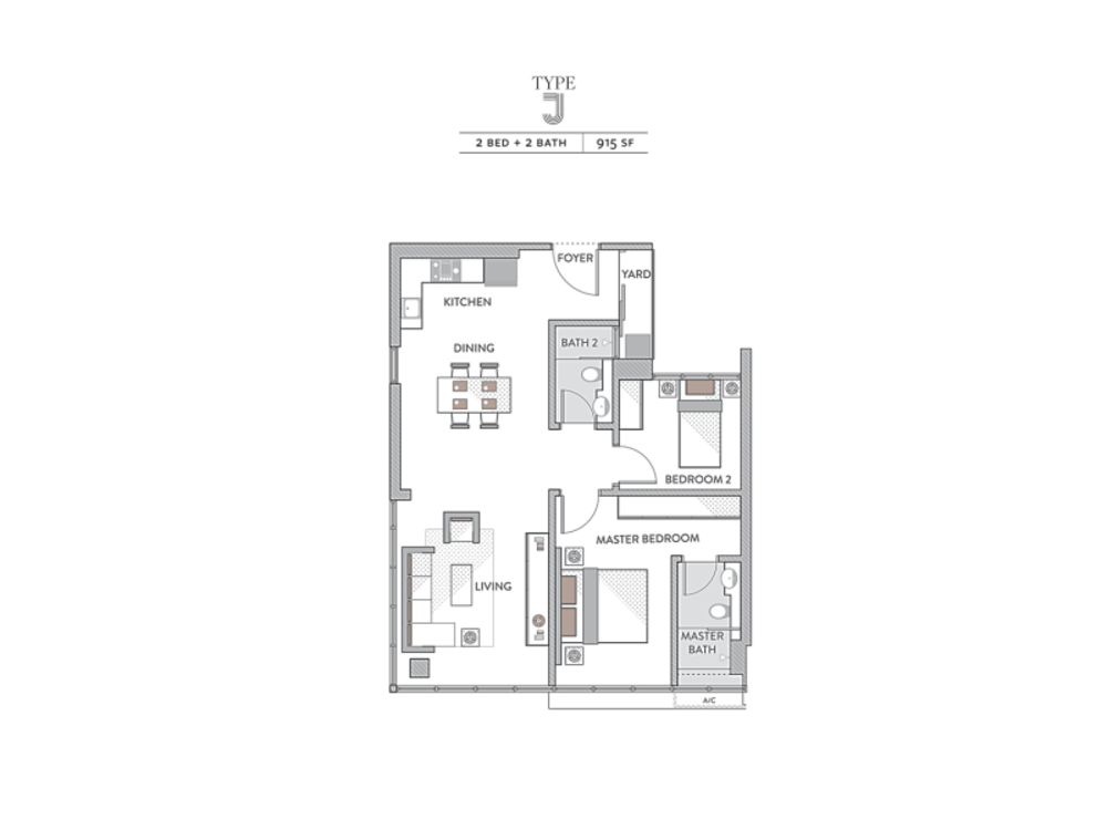 Senada Residences Type J Floor Plan