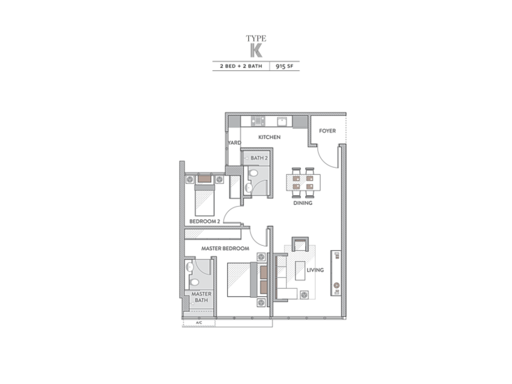 Senada Residences Type K Floor Plan