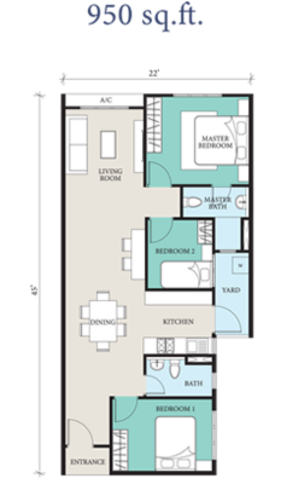 Casa Din'ari @ Cybersouth Typical Unit Floor Plan