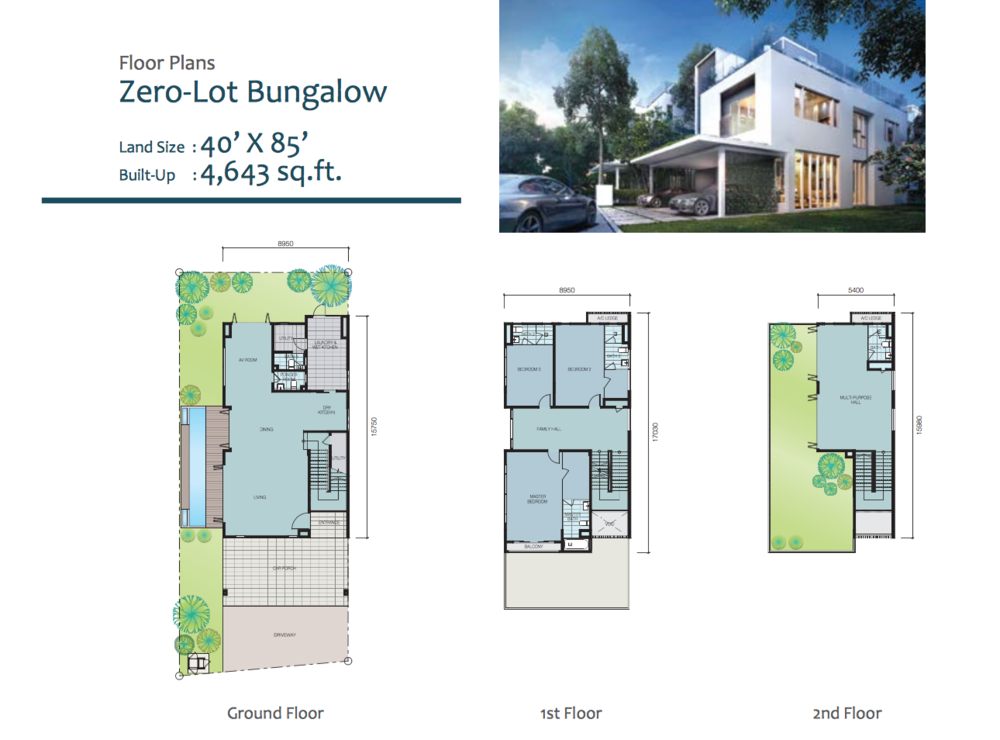 LakeFront Villa, Cyberjaya property & real estate reviews ... on pig lot plans, zero house plans, blank lot plans,