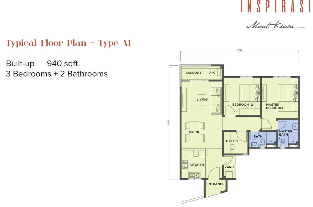 Inspirasi Mont'Kiara Type A1 Floor Plan