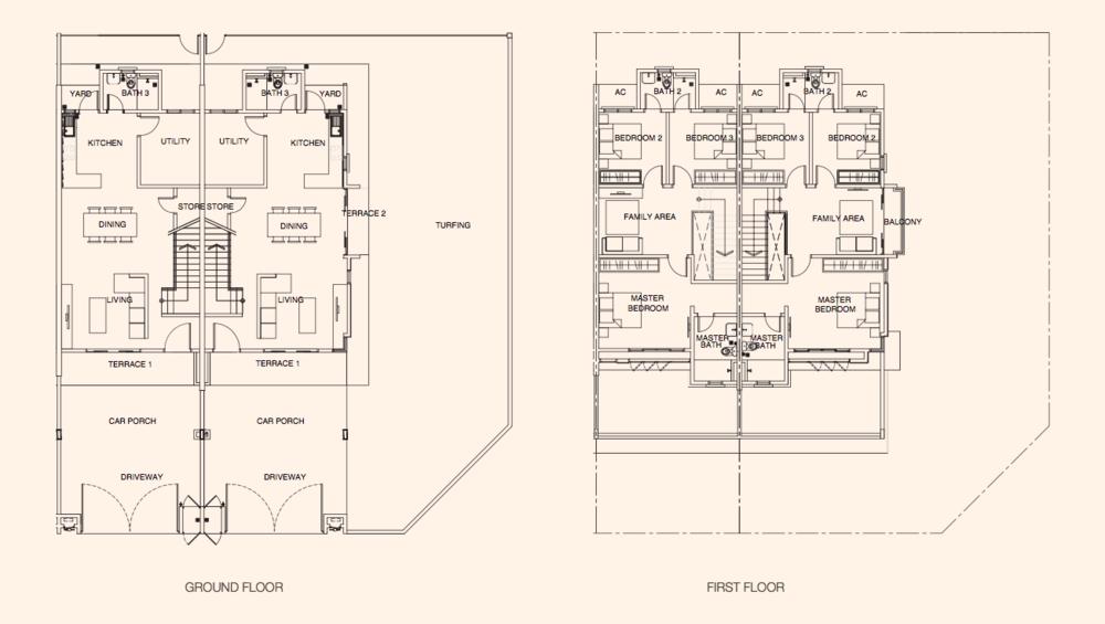 Puncak Bestari 2 Azalea Type A Floor Plan
