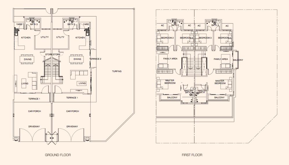 Puncak Bestari 2 Azalea Type B Floor Plan