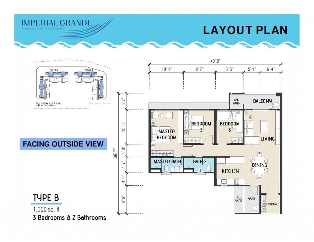 Imperial Grande Type B Floor Plan