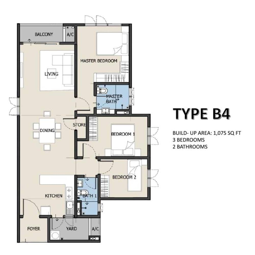 The Hermington Type B4 Floor Plan