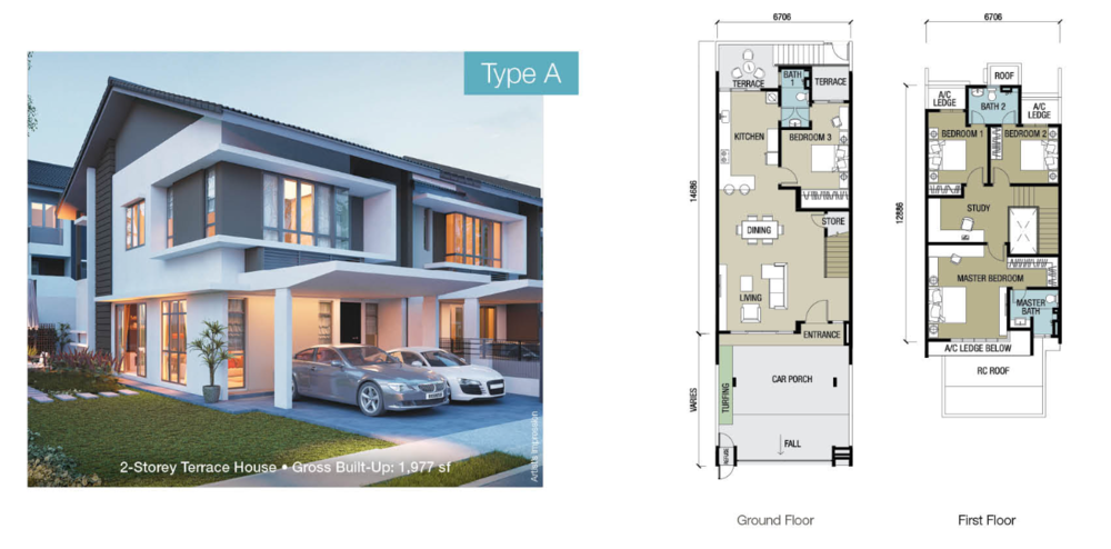 Chloe Residence Type A Floor Plan