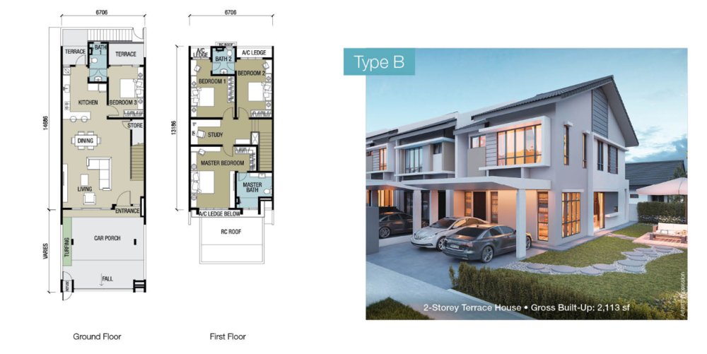 Chloe Residence Type B Floor Plan