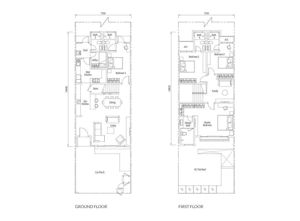 Redup Type A1  Floor Plan