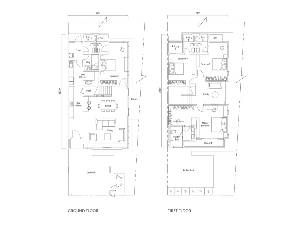 Redup Type C1 Floor Plan