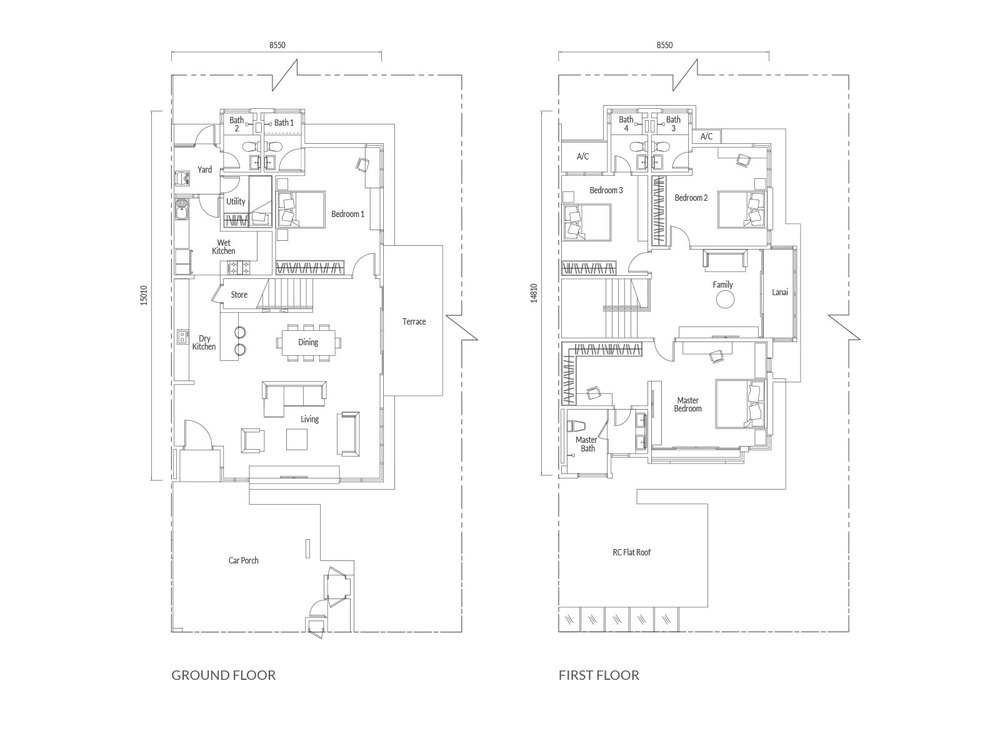 Redup Type D1 Floor Plan