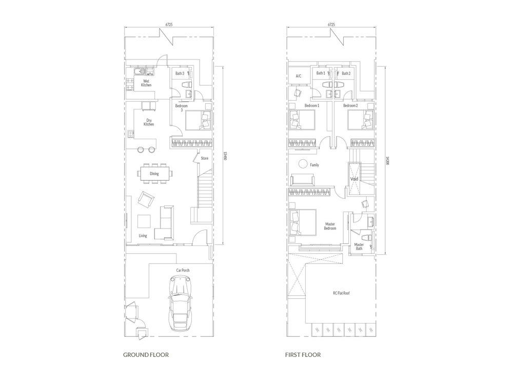 Santai Type A Floor Plan